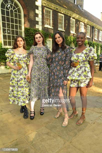 Sai Bennett, Charli Howard, Lilah Parsons and Yomi Adegoke attend the Ted Baker x Hoste summer supper club, hosted by Laura Jackson at Museum of the...