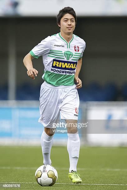 Sai van Wermeskerken during the team presentation of Fc Dordrecht on July 13 2015 at the GN Bouw stadium in Dordrecht The Netherlands