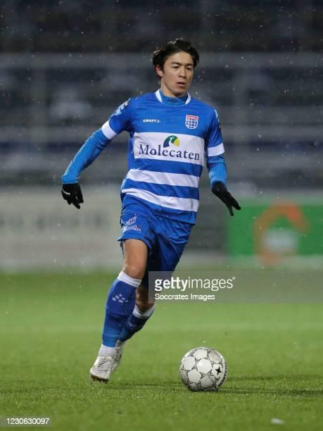 Sai Van Wermeskerken of PEC Zwolle during the Dutch Eredivisie match between PEC Zwolle v Fortuna Sittard at the MAC3PARK Stadium on January 16, 2021...