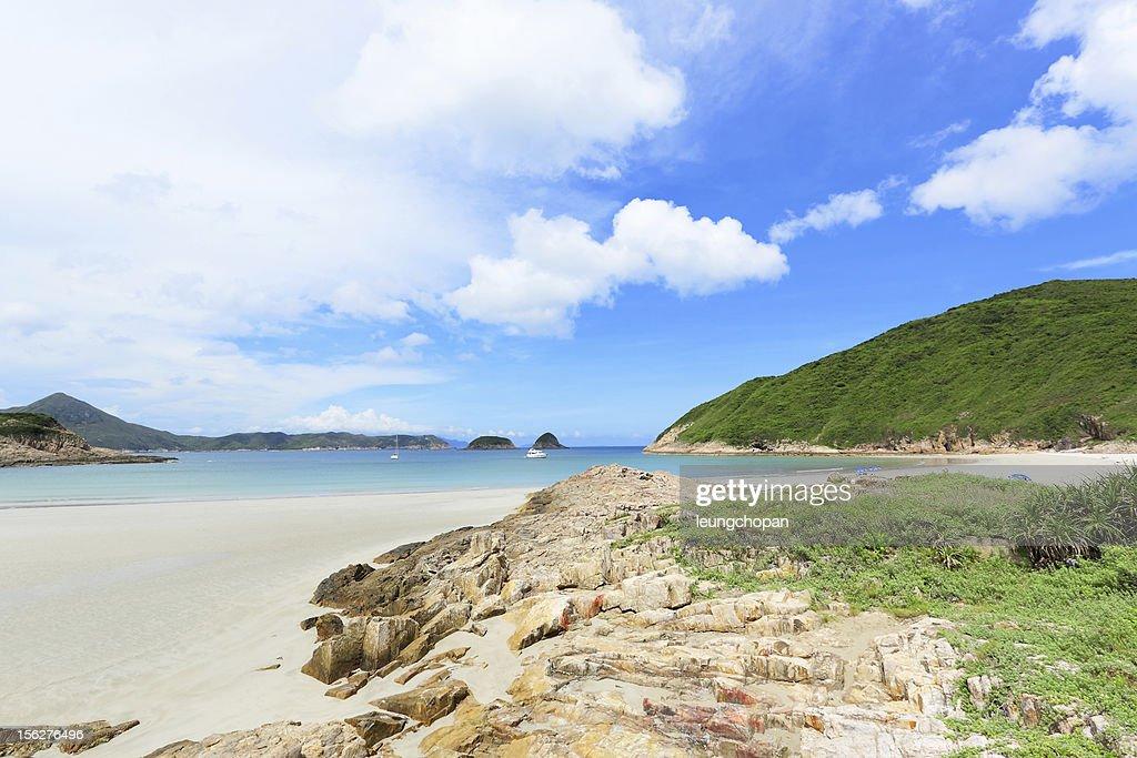 Sai Wan beach in Hong Kong : Stock Photo