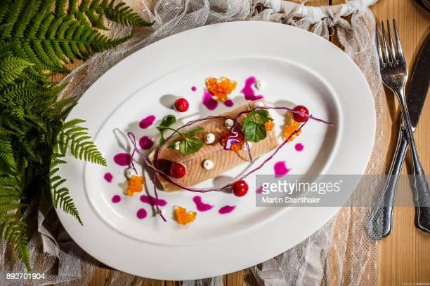 Saibling Filet mit Kaviar