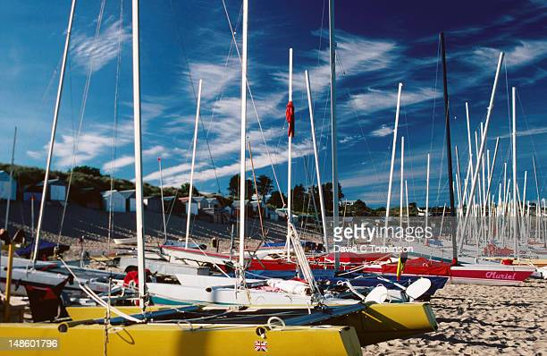 Saiboats on beach.
