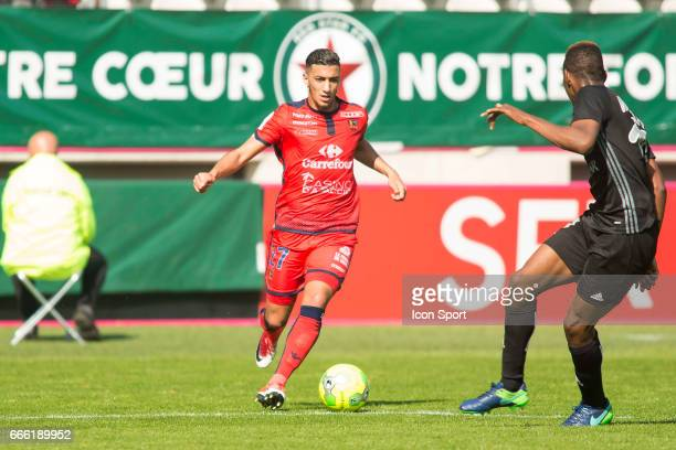 Said BENRAHMA of Ajaccio during the Ligue 2 match between Red Star and Gazelec Ajaccio at Stade Jean Bouin on April 8 2017 in Paris France