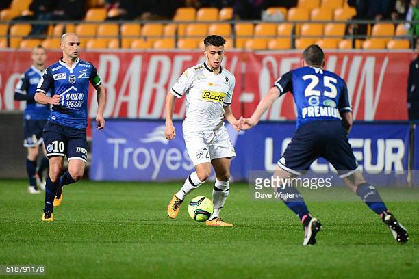 Said Benrahma of Angers during the French Ligue 1 match between ESTAC Troyes and Angers SCO on April 2 2016 in Troyes France