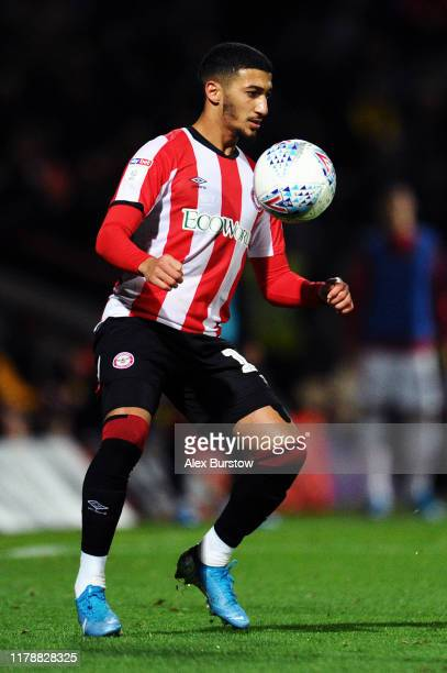 Said Benrahma of Brentford controls the ball during the Sky Bet Championship match between Brentford and Bristol City at Griffin Park on October 02...
