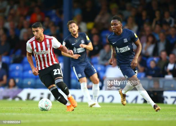 Said Benrahma of Brentford during Carabao Cup match between Southend United and Brentford at Roots Hall Ground Southend England on 14 August 2018