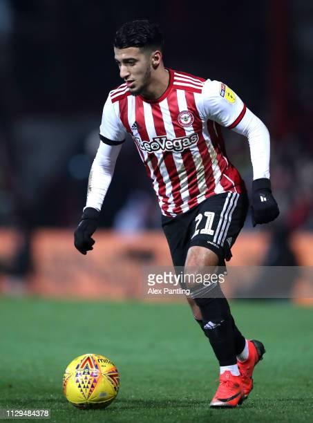 Said Benrahma of Brentford during the Sky Bet Championship match between Brentford and Aston Villa at Griffin Park on February 13 2019 in Brentford...