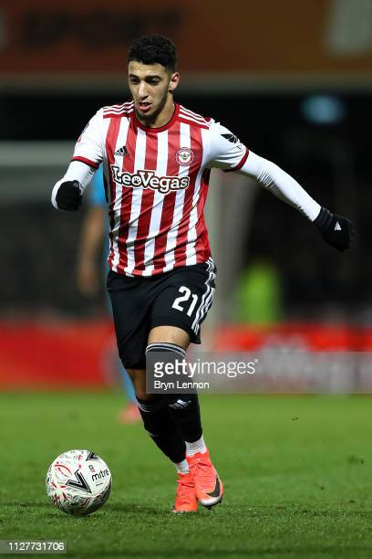 Said Benrahma of Brentford in action during the FA Cup Fourth Round Replay match between Brentford and Barnet at Griffin Park on February 05 2019 in...