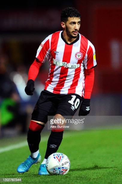 Said Benrahma of Brentford runs with the ball during the Sky Bet Championship match between Brentford FC and Nottingham Forest at Griffin Park on...