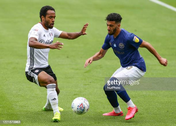 Said Benrahma of Brentford taking on Dennis Odoi of Fulham during the Sky Bet Championship match between Fulham and Brentford at Craven Cottage...