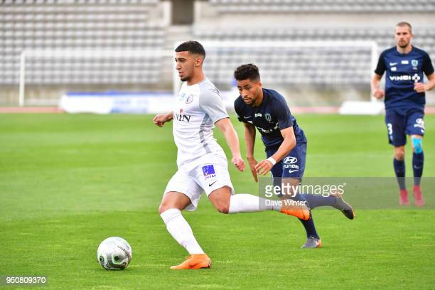 Said Benrahma of Chateauroux and Saifeddine Alami Bazza of Paris FC during the French Ligue 2 match between Paris FC and Chateauroux at Stade...