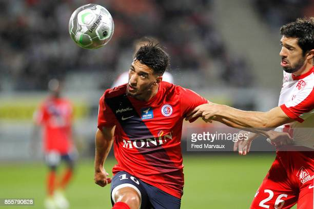 Said Benrahma of Chateauroux and Vincent Muratori of Nancy during the Ligue 2 match between As Nancy Lorraine and Chateauroux on September 29 2017 in...