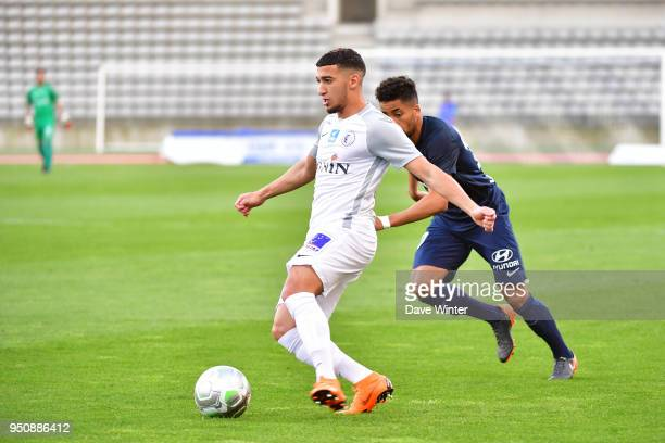 Said Benrahma of Chateauroux during the French Ligue 2 match between Paris FC and Chateauroux at Stade Charlety on April 24 2018 in Paris France