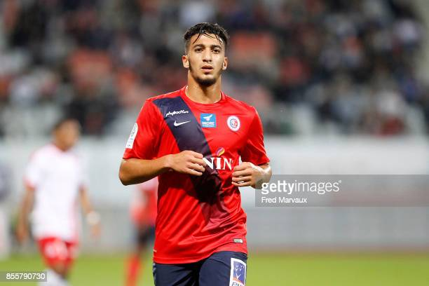 Said Benrahma of Chateauroux during the Ligue 2 match between As Nancy Lorraine and Chateauroux on September 29 2017 in Nancy France