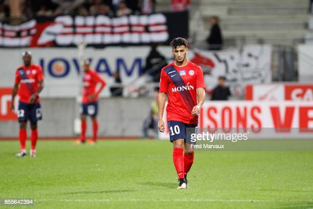 Said Benrahma of Chateauroux looks dejected during the Ligue 2 match between As Nancy Lorraine and Chateauroux on September 29 2017 in Nancy France