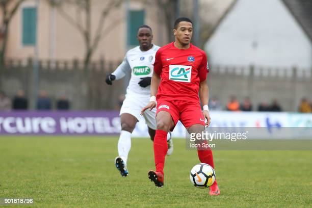 Said Id Azza of Concarneau during the french National Cup match between Houilles and Concarneau on January 6 2018 in Houilles France