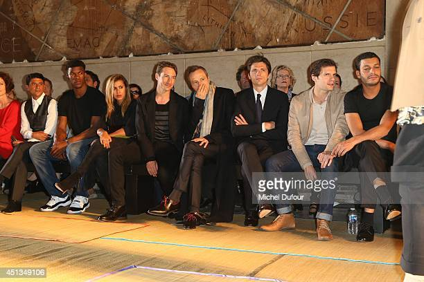 Said Taghmaoui Jimmy Butler Benn Northover Michael Wincott Raphael Personnaz Hugo Becker and Adel Bencherif attend the Cerruti show as part of the...