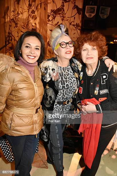 Saida Jawad Andrea Ferreol and Orlan attend the Franck Sorbier Haute Couture Spring Summer 2017 show as part of Paris Fashion Week on January 25 2017...