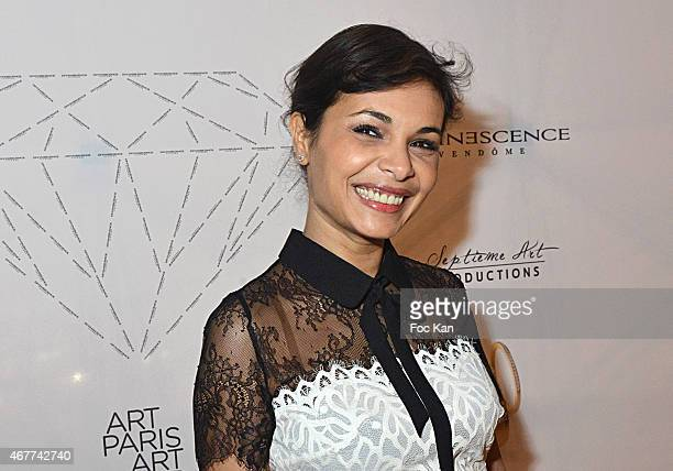 Saida Jawal attends the 'Diamond Night by Divinescence Vendome' Harumi Klossowska Jewellery Exhibition Preview As Part Of Art Paris Art Fair at the...