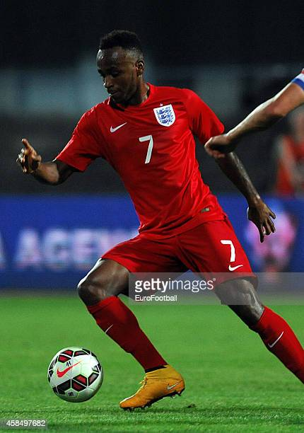 Saido Berahino of England in action during the UEFA U21 Championship Playoff Second Leg match between Croatia and England at the Stadion Hnk Cibalia...