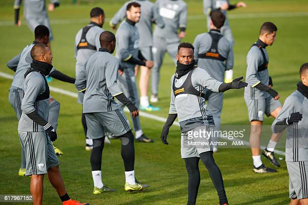 Saido Berahino of West Bromwich Albion during a West Bromwich Albion Training Session on October 25 2016 in West Bromwich England