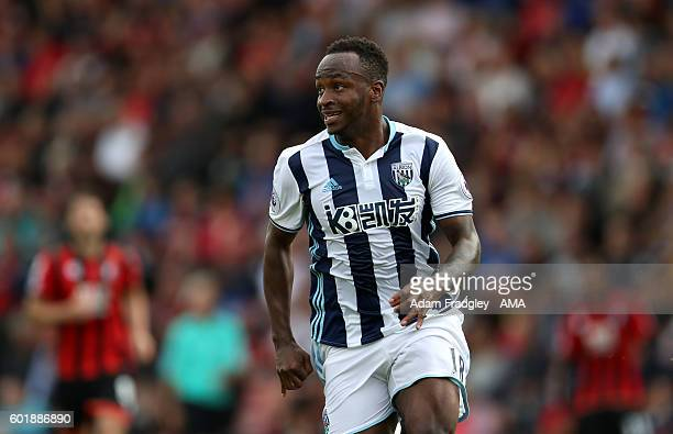 Saido Berahino of West Bromwich Albion during the Premier League match between Bournemouth and West Bromwich Albion at Vitality Stadium on September...