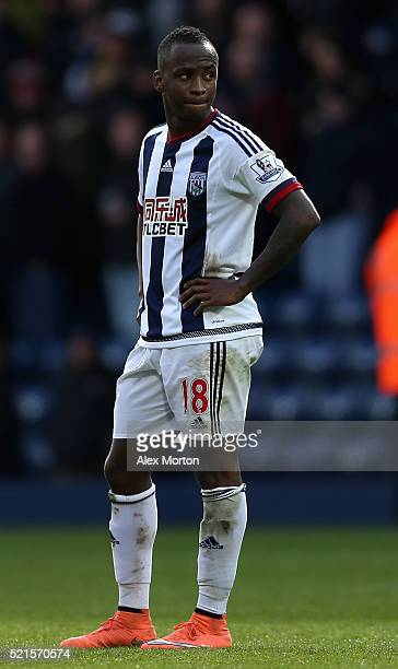 Saido Berahino of West Bromwich Albion looks on following his sides defeat during the Barclays Premier League match between West Bromwich Albion and...