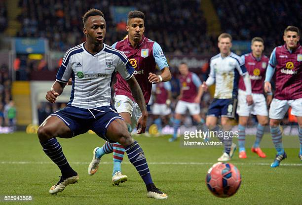 Saido Berahino of West Bromwich Albion Scott Sinclair of Aston Villa