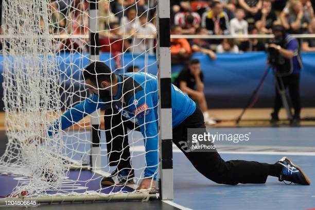 Saied Heidarirad of Dinamo Bucharest in action during the game during the Dinamo Bucharest v Sporting CP, EHF Men's Champions League Group Phase, in...