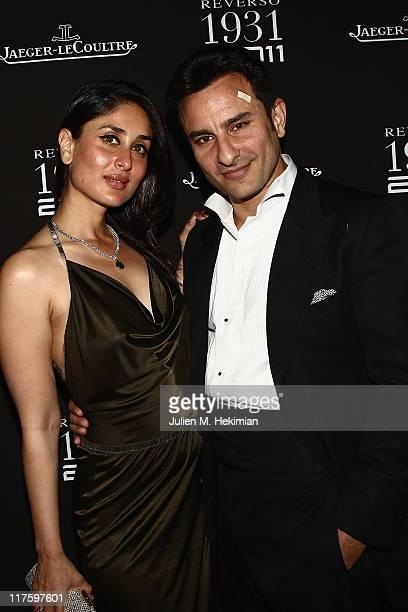 Saif Ali Khan and Kareena Kapoor attend the Jaeger-LeCoultre Reverso 80th Anniversary at Les Beaux-Arts de Paris on June 28, 2011 in Paris, France.