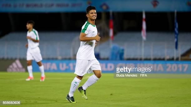 Saif Khalid of Iraq in action during training session ahead of the FIFA U17 World Cup India 2017 tournament at the Salt Lake Stadium or Vivekananda...