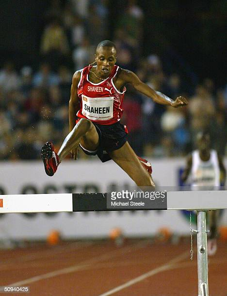 Saif Saheed Shaheen of Qatar during the men's 300m steeplechase at the IAAF Golden Spike meet in Ostrava Czech Republic