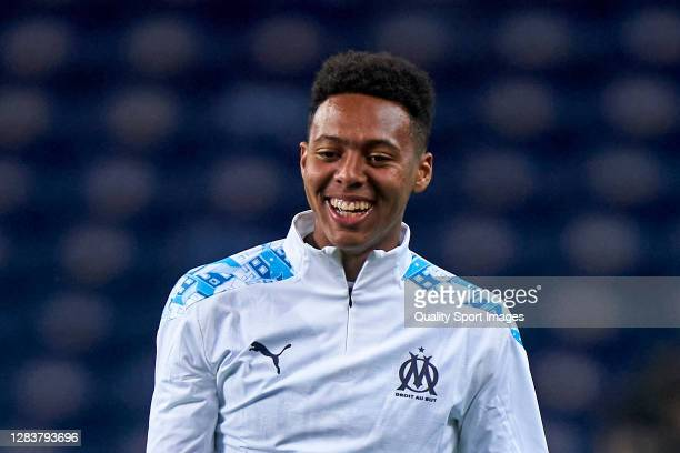 Saif-Eddine Khaoui of Olympique de Marseille looks on during the warms up prior to the UEFA Champions League Group C stage match between FC Porto and...