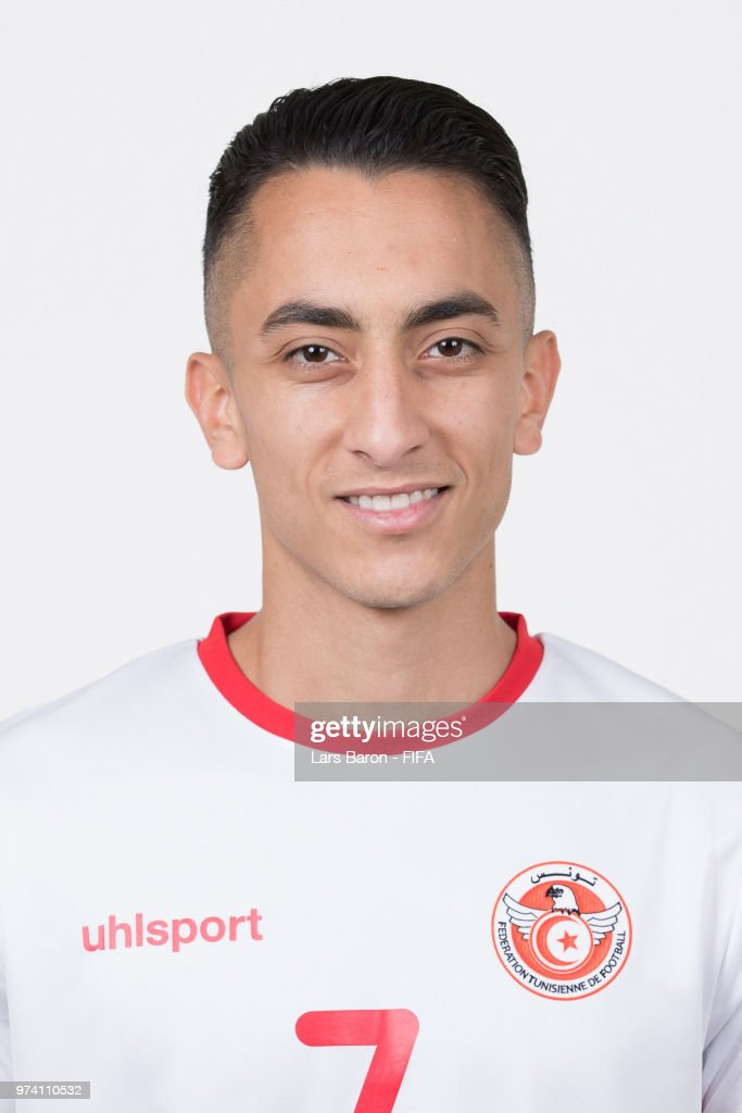 Saifeddine Khaoui of Tunisa poses during the official FIFA World Cup 2018 portrait session on June 13, 2018 in Moscow, Russia.
