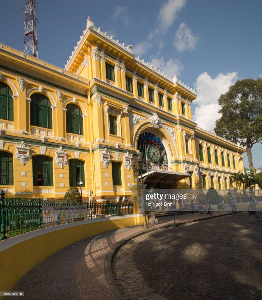 SAIGON, VIETNAM - MAY 18, 2017: Saigon Central Post Office : Stock Photo