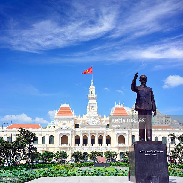 saigon city hall - people's committee building ho chi minh city stock pictures, royalty-free photos & images
