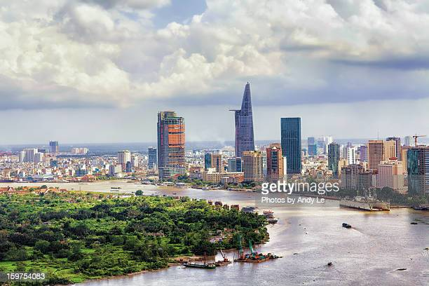 saigon in a day without sunlight - ho chi minh city stock pictures, royalty-free photos & images