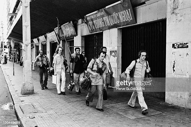 Saigon in Vietnam on April 29 1975 The communist troops circling Saigon the capital city of South Vietnam was to fall the last US citizens gathered...