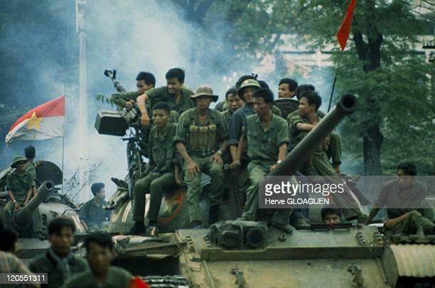 Saigon in Vietnam on April 30 1975 North Vietnamese tanks entered the city on April 301975