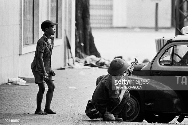 Saigon in Vietnam on April 30 1975 The communist troops took over Saigon Tanks entered the palace Doc Lap the headquarters of the defeated...