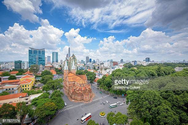 Saigon Notre Dame Cathedral in the morning