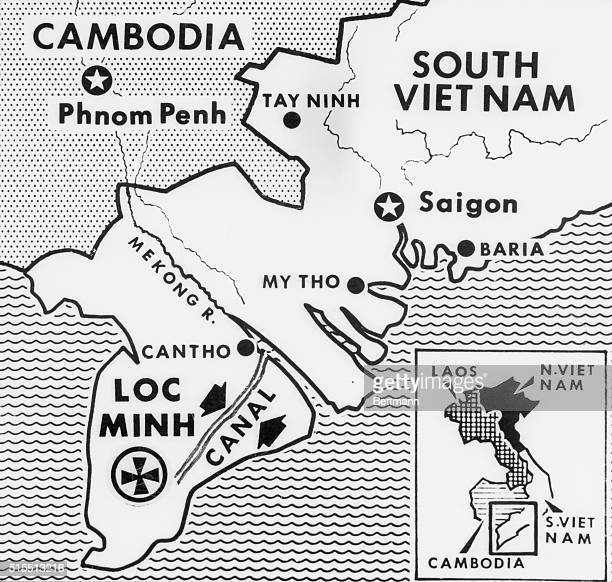 Saigon, South Vietnam: Communist guerillas killed 42 Vietnamese soldiers and wounded 13 U. S. Officers and men in one of the biggest battles of the...