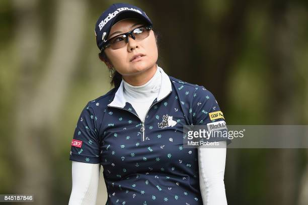 Saiki Fujita of Japan looks dejected after her tee shot on the 5th hole during the final round of the 50th LPGA Championship Konica Minolta Cup 2017...