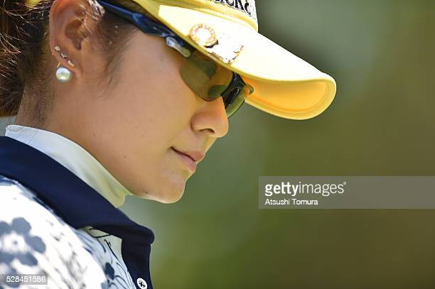 Saiki Fujita of Japan looks on during the first round of the World Ladies Championship Salonpas Cup at the Ibaraki Golf Club on May 5 2016 in...