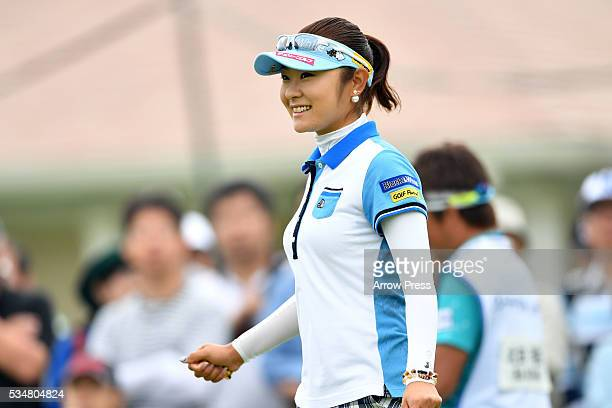 Saiki Fujita of Japan smails during second round of the Resorttrust Ladies at the Grandee Naruto Golf Club XIV on May 28 2016 in Naruto Japan