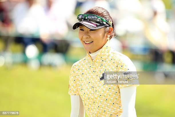 Saiki Fujita of Japan smiles during the first round of the Yonex Ladies Golf Tournament 2016 at the Yonex Country Club on June 3 2016 in Nagaoka Japan