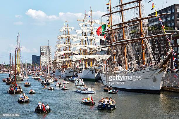 sail amsterdam 2015 - amsterdam stock pictures, royalty-free photos & images