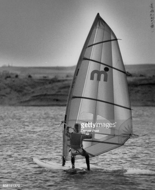 Sail Boarding Tom Longan age 23 is board sailing on Chatfield Res He lives in Parker Colo Credit The Denver Post