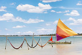 sail boat and hammocks at Jericoacoara, Brazil
