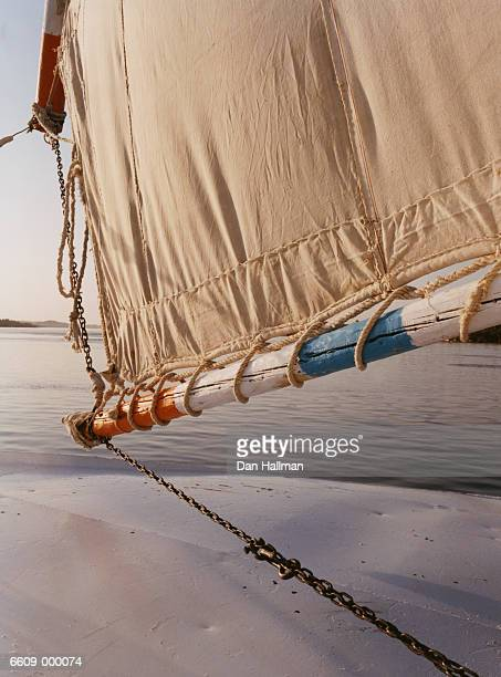 sail of felucca - sail boom stock pictures, royalty-free photos & images